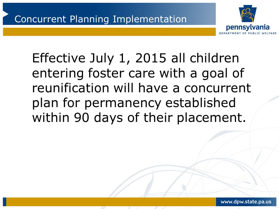 Concurrent Planning Implementation