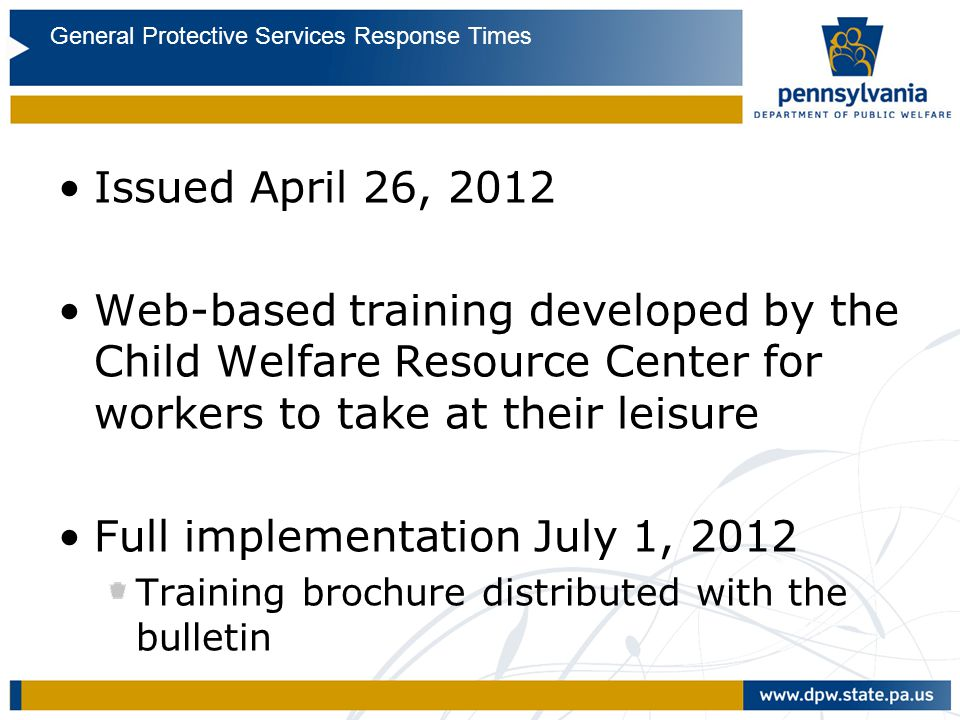 GPS Response Times Issued April 26, 2012