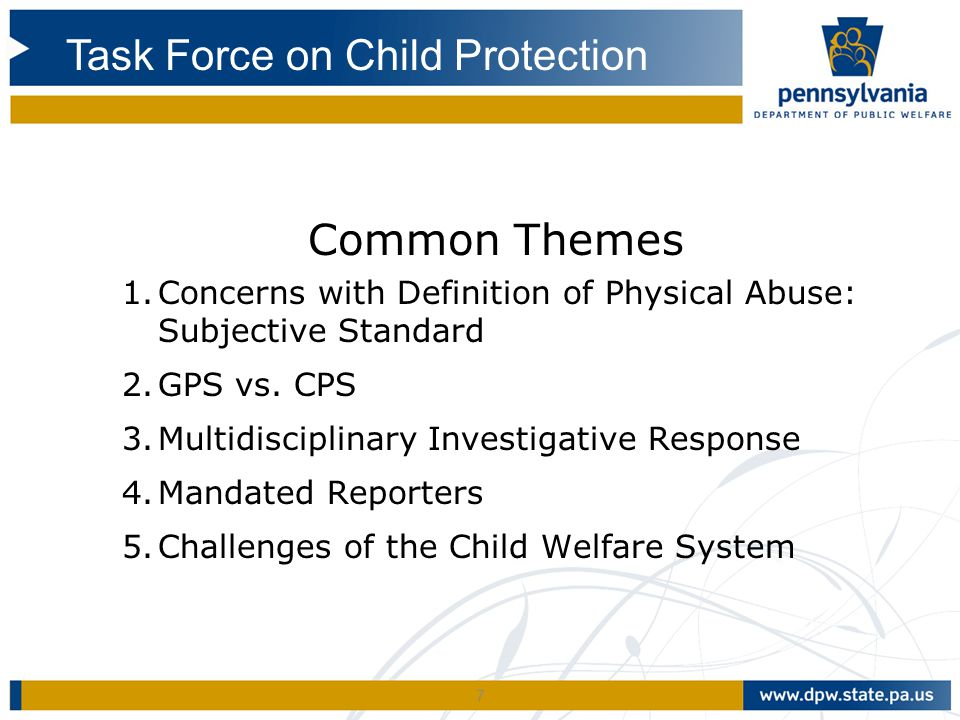 Task Force on Child Protection