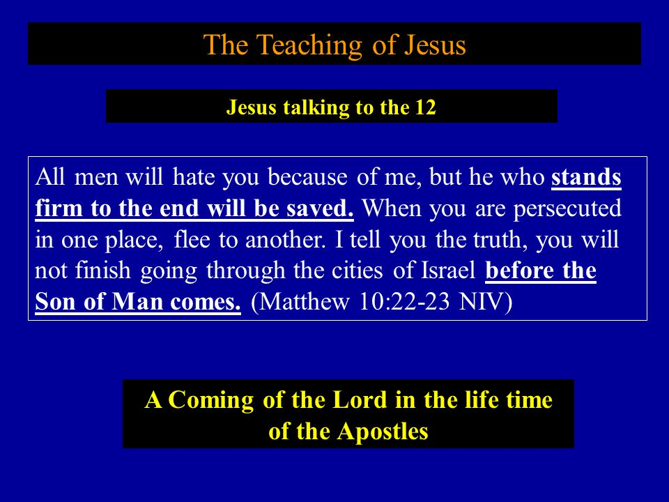 A Coming of the Lord in the life time of the Apostles