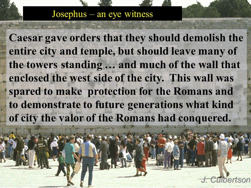 Josephus – an eye witness