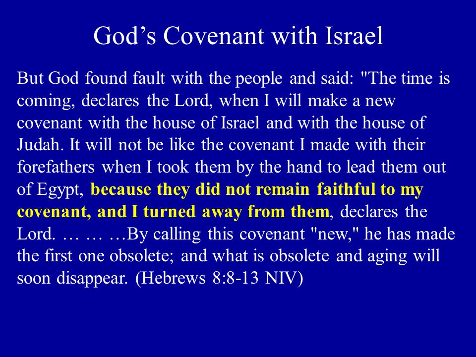 God's Covenant with Israel