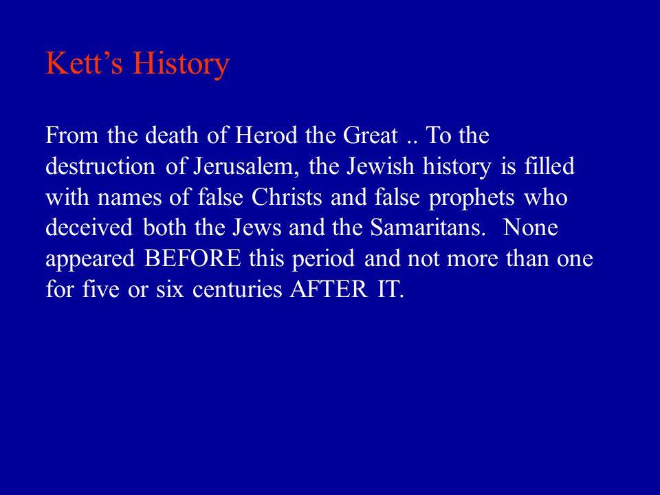 Kett's History