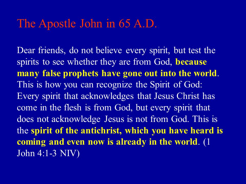 The Apostle John in 65 A.D.