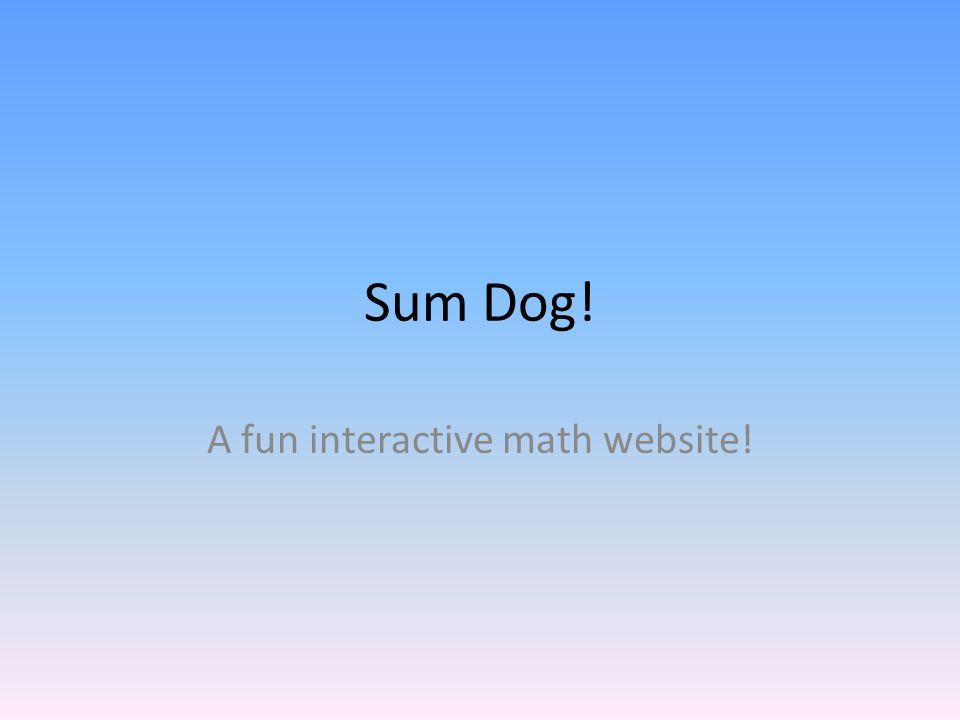 A fun interactive math website!