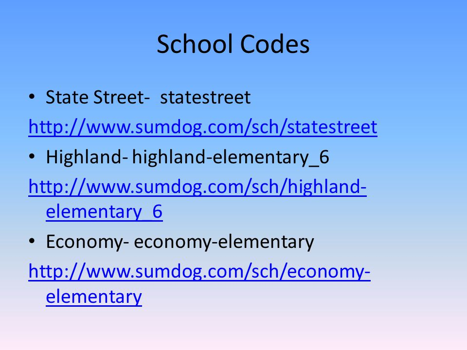 School Codes State Street- statestreet