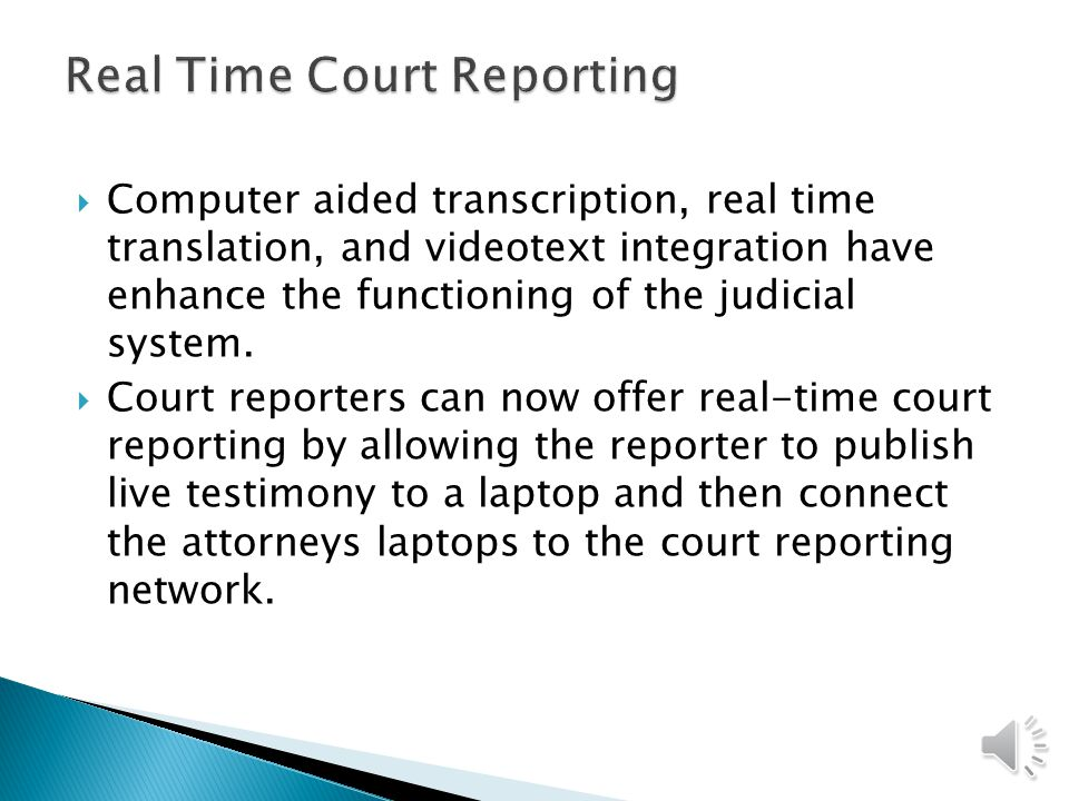 Real Time Court Reporting