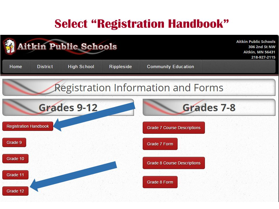Select Registration Handbook