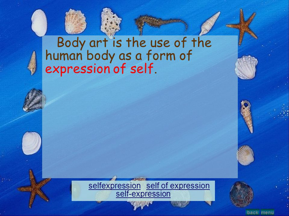 selfexpression self of expression self-expression