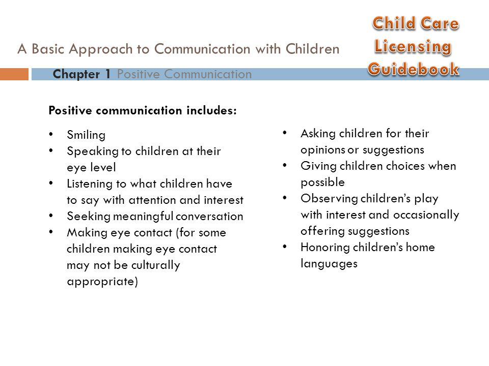 A Basic Approach to Communication with Children