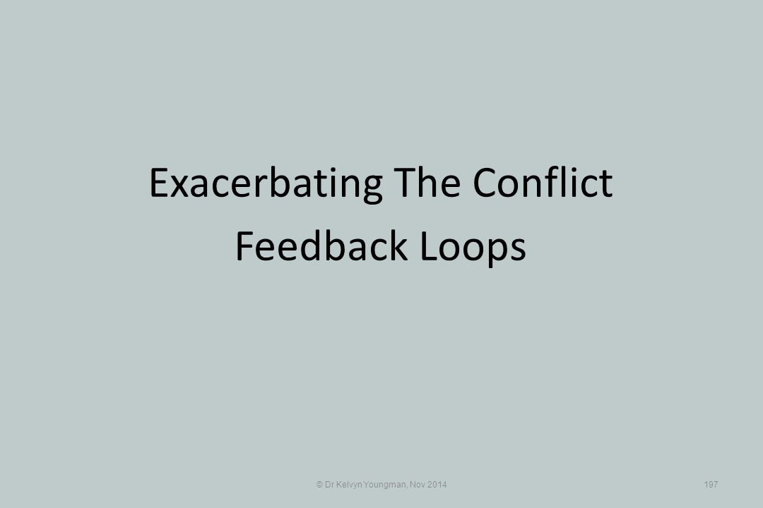 Exacerbating The Conflict Feedback Loops