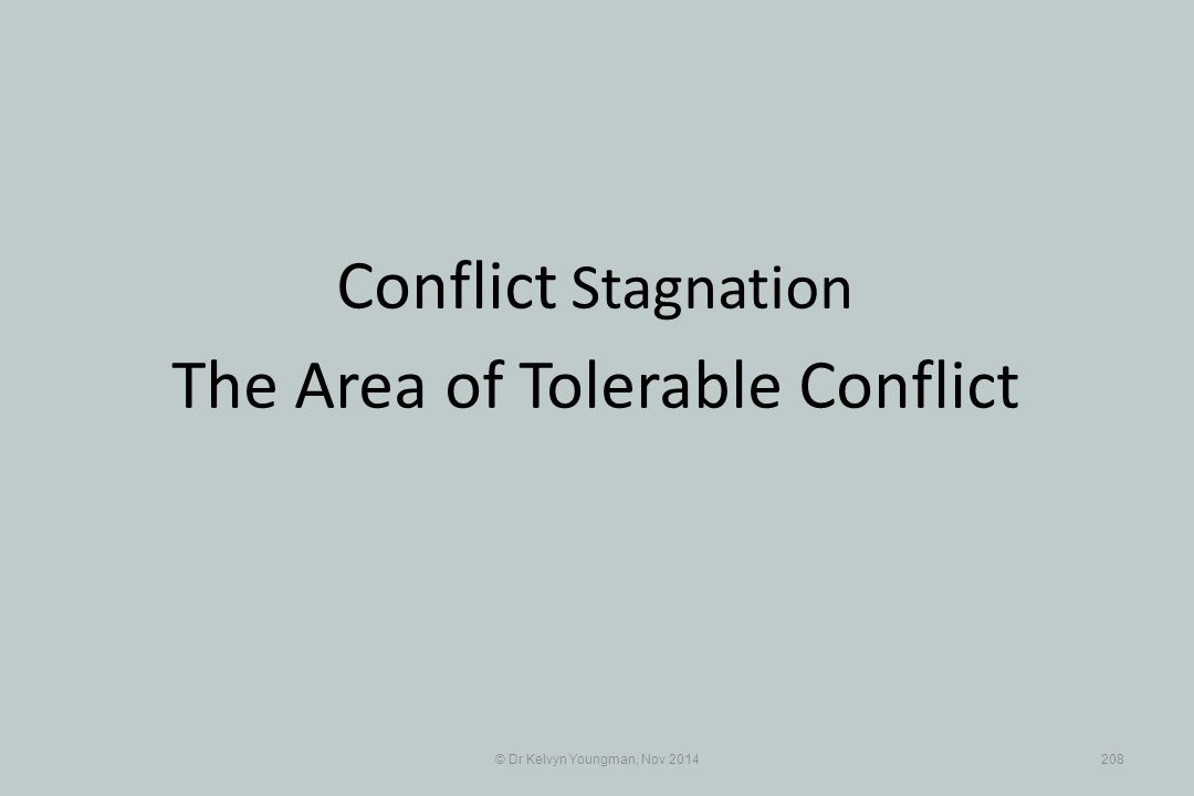 The Area of Tolerable Conflict