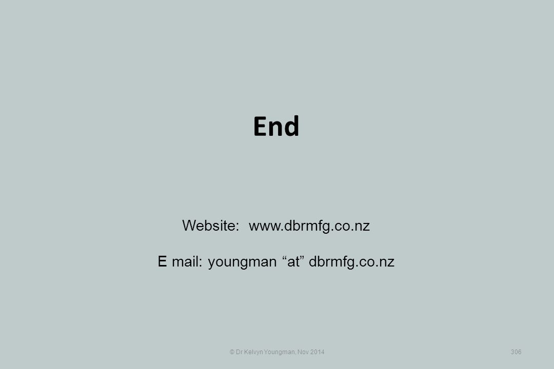 End Website: www.dbrmfg.co.nz E mail: youngman at dbrmfg.co.nz