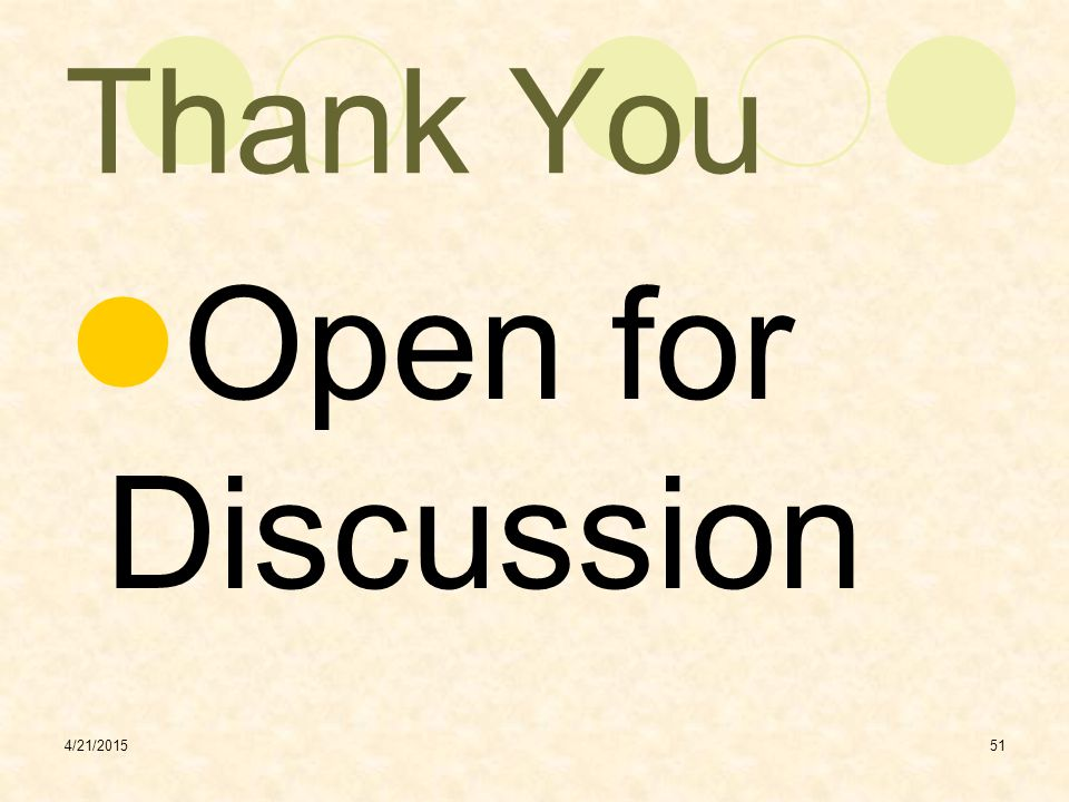 Thank You Open for Discussion 4/12/2017