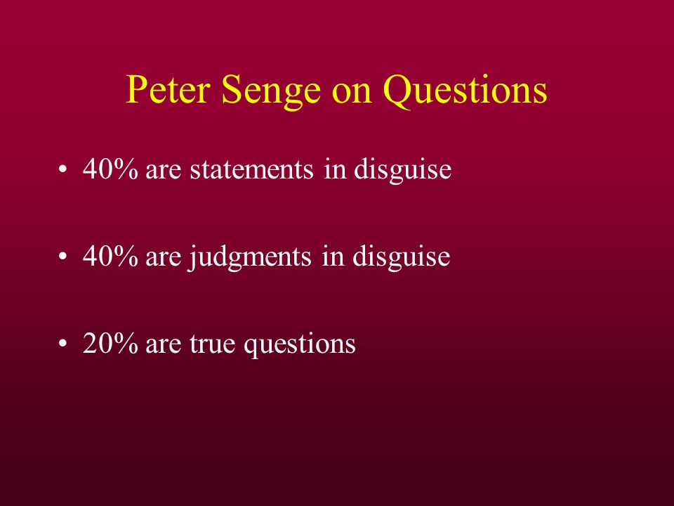 Peter Senge on Questions