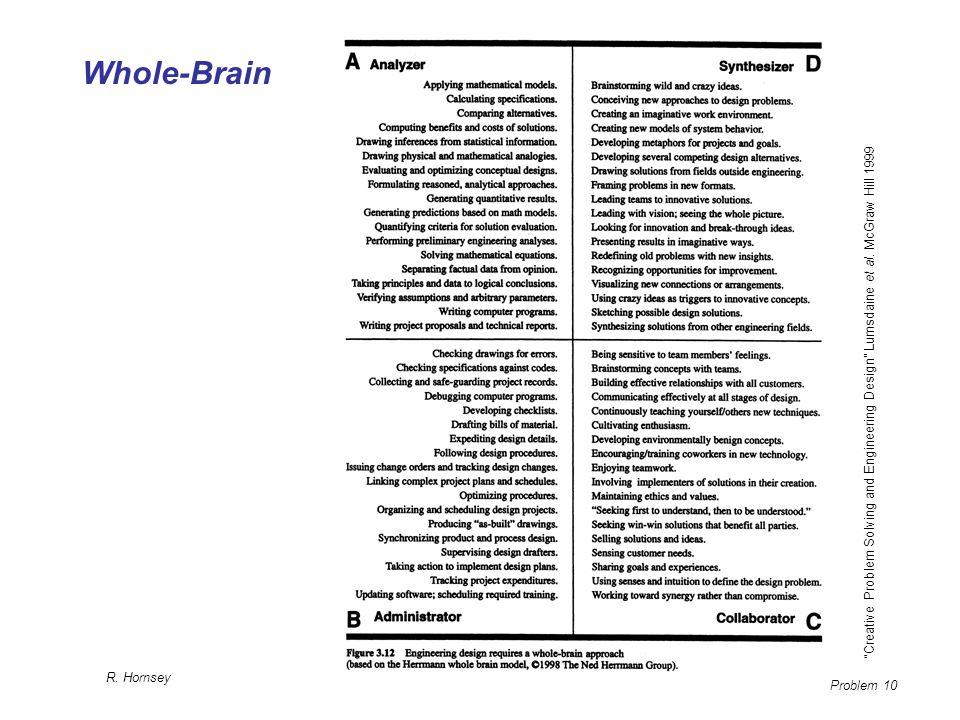 Whole-Brain Creative Problem Solving and Engineering Design Lumsdaine et al.