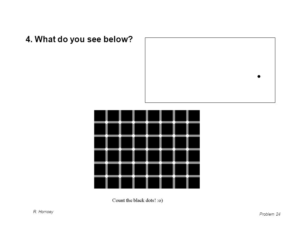 4. What do you see below R. Hornsey