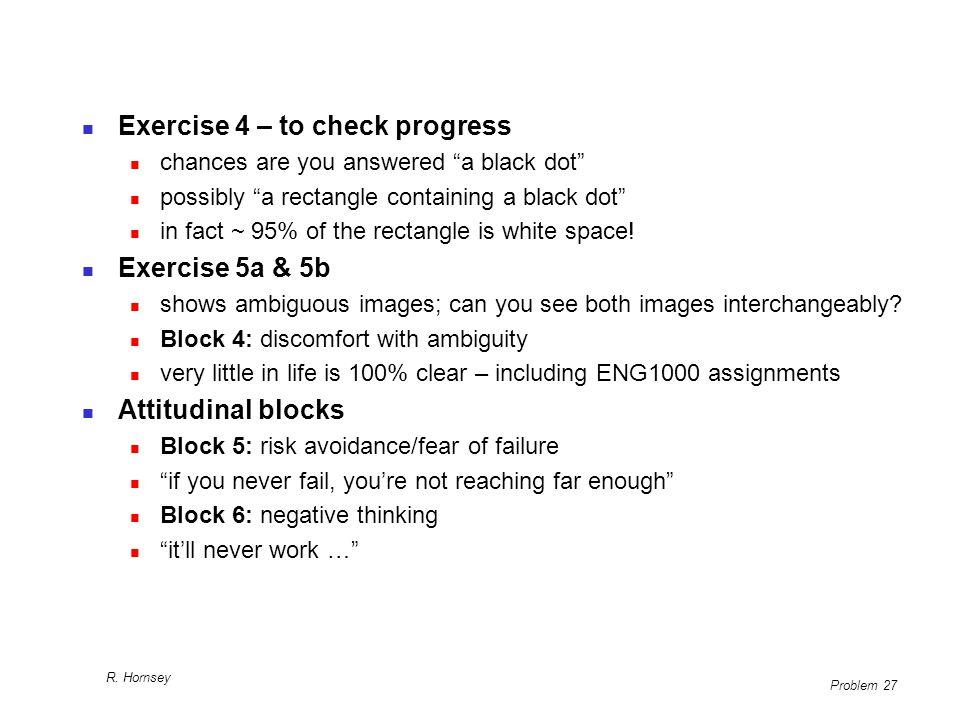 Exercise 4 – to check progress