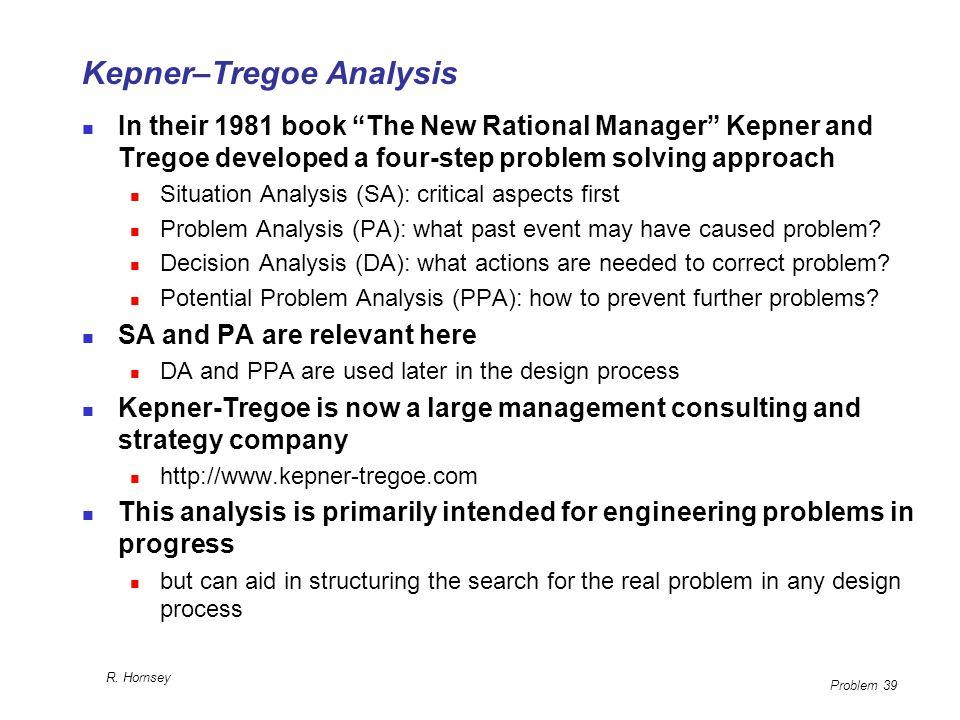 Kepner–Tregoe Analysis