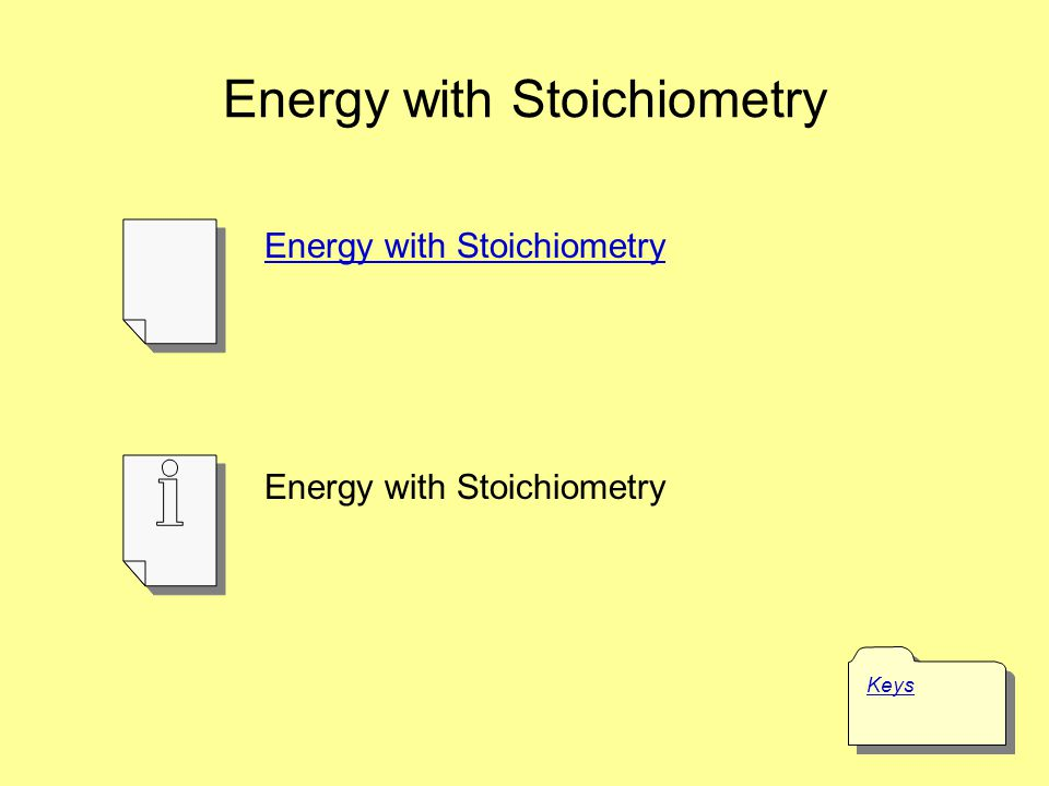 Energy with Stoichiometry