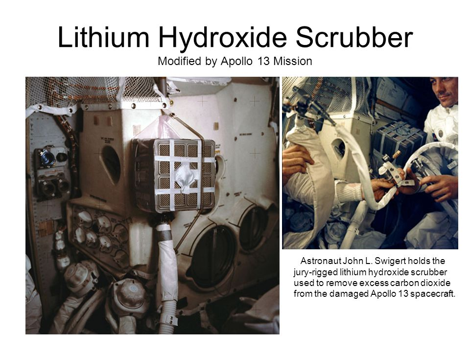 Lithium Hydroxide Scrubber Modified by Apollo 13 Mission