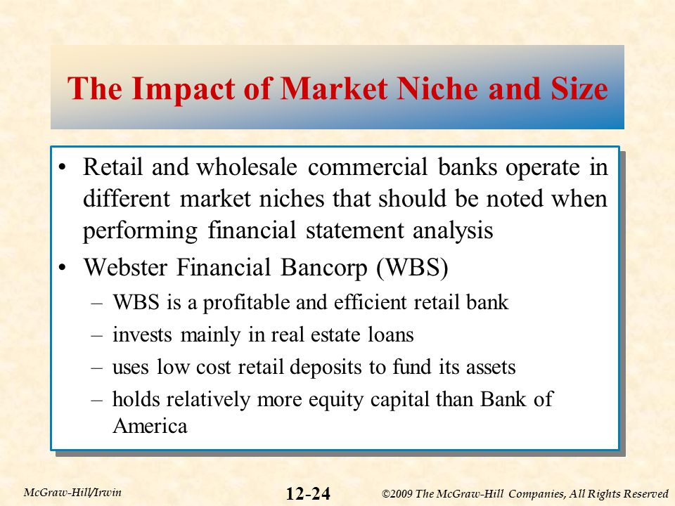 The Impact of Market Niche and Size