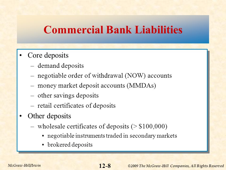 Commercial Bank Liabilities