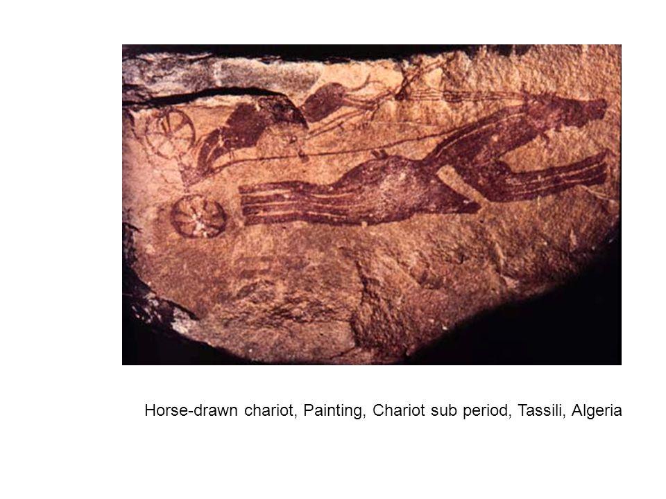 Horse-drawn chariot, Painting, Chariot sub period, Tassili, Algeria