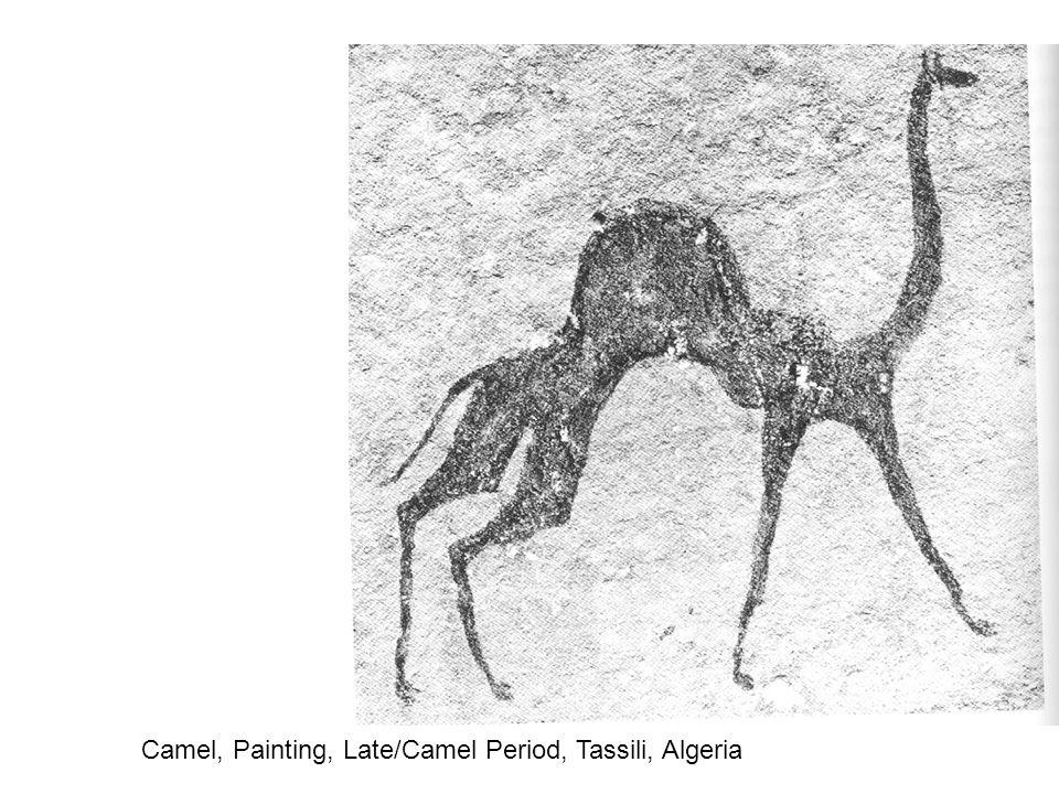 Camel, Painting, Late/Camel Period, Tassili, Algeria