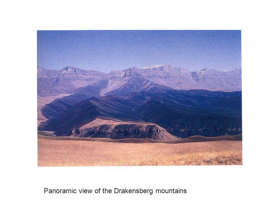 Panoramic view of the Drakensberg mountains