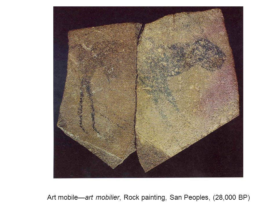 Art mobile—art mobilier, Rock painting, San Peoples, (28,000 BP)
