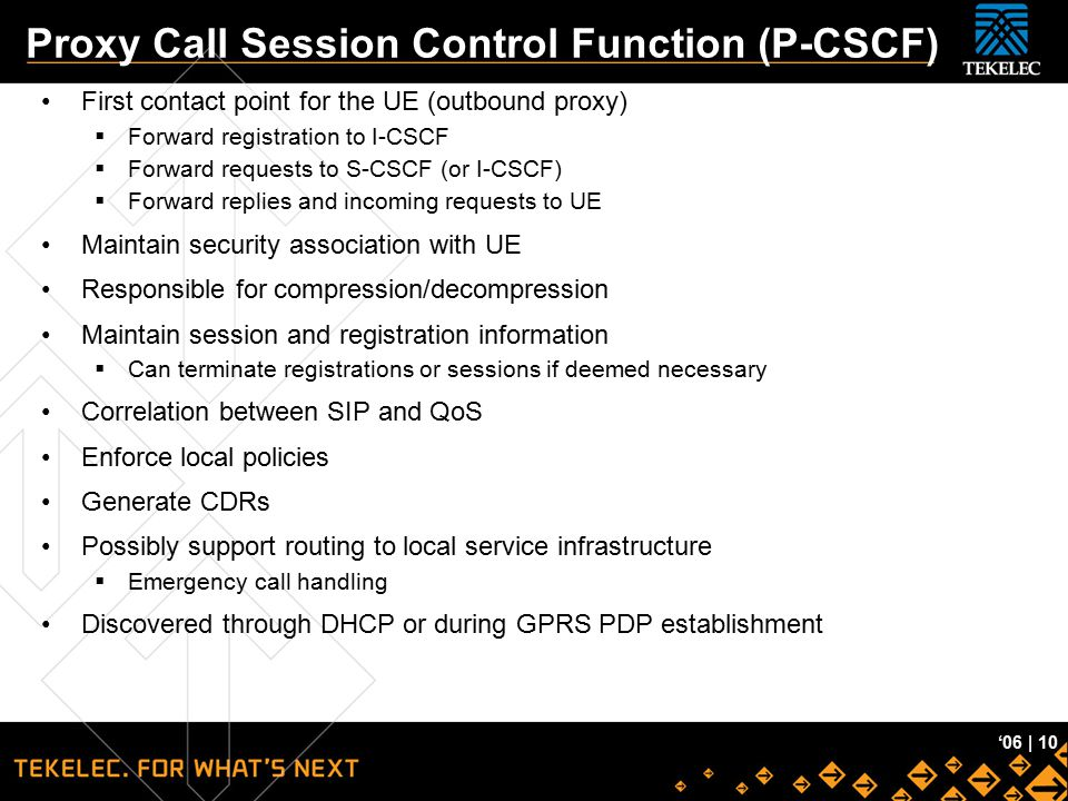 Proxy Call Session Control Function (P-CSCF)