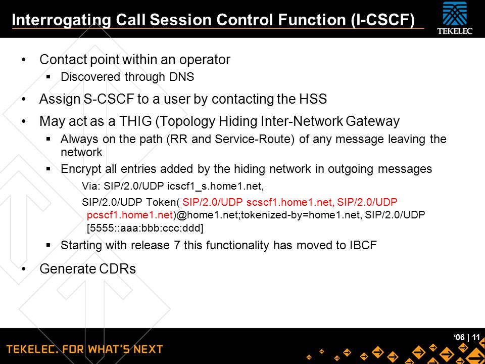 Interrogating Call Session Control Function (I-CSCF)