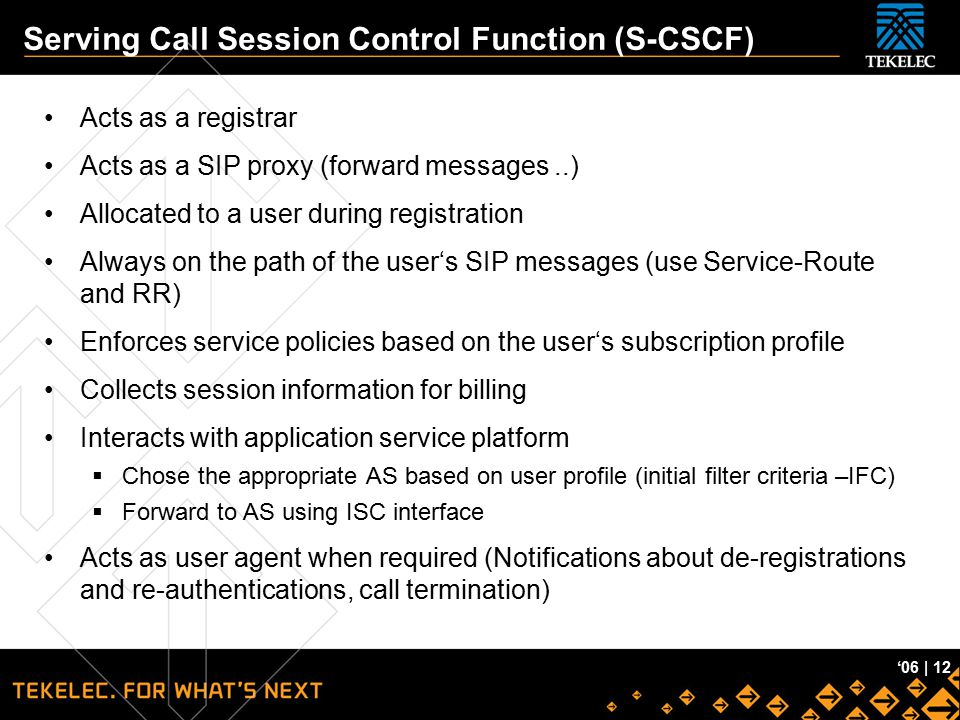 Serving Call Session Control Function (S-CSCF)