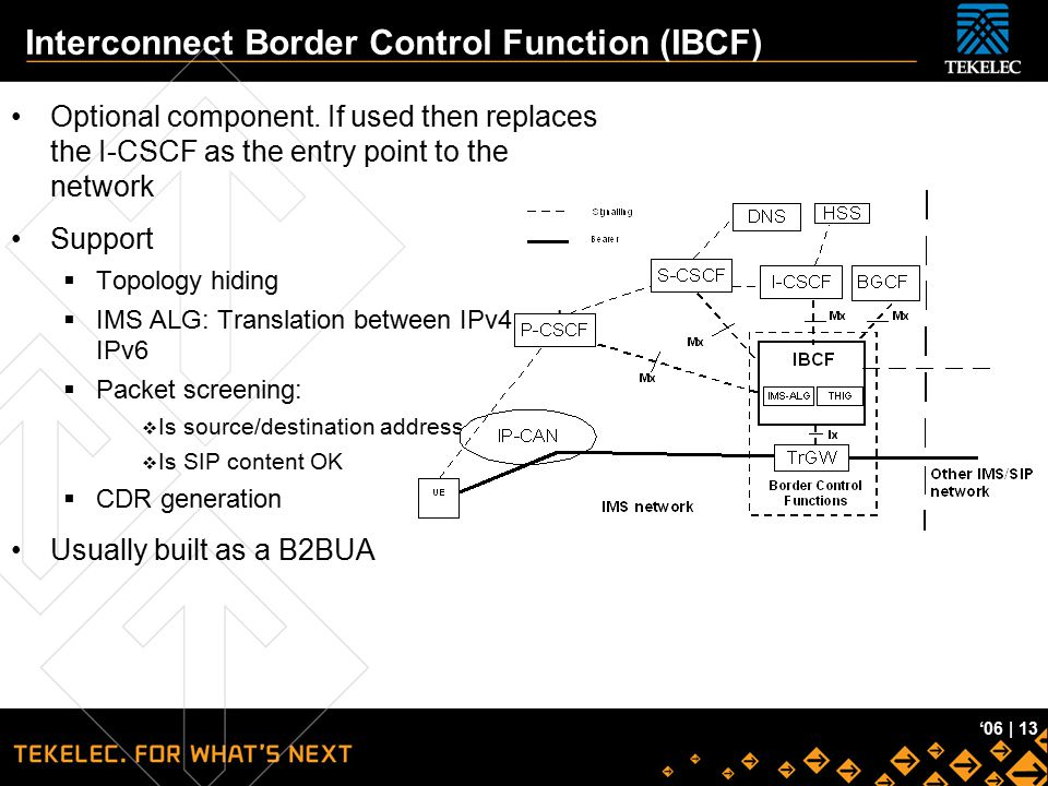 Interconnect Border Control Function (IBCF)