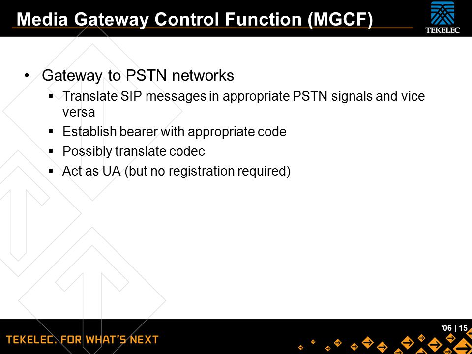 Media Gateway Control Function (MGCF)