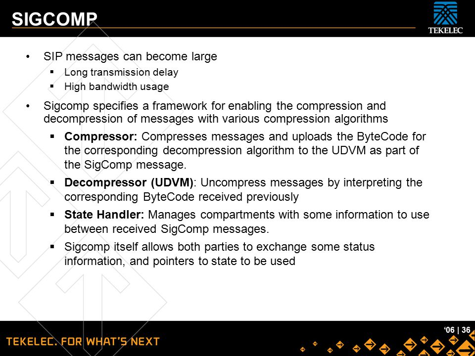 SIGCOMP SIP messages can become large