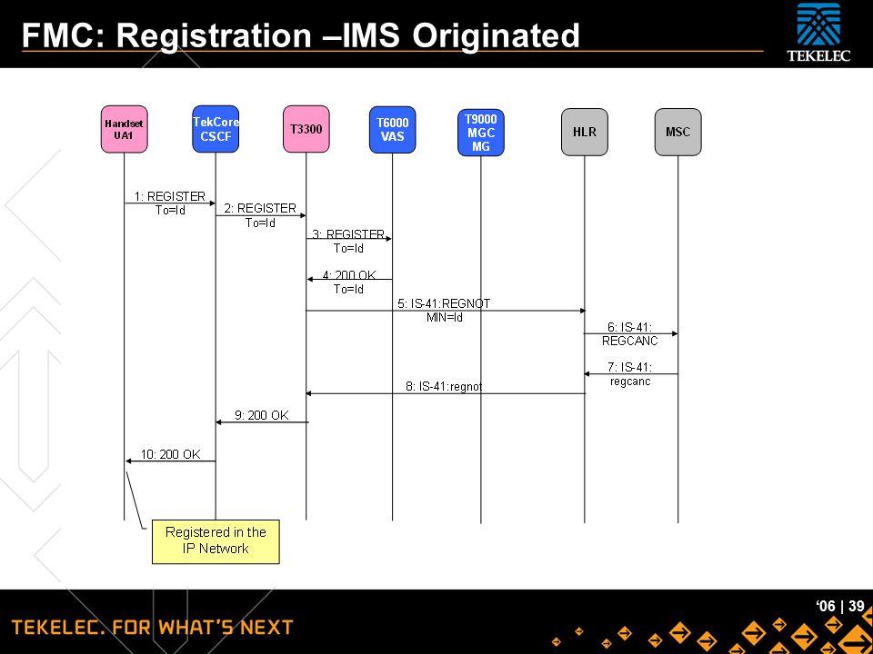 FMC: Registration –IMS Originated