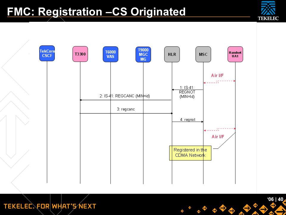 FMC: Registration –CS Originated