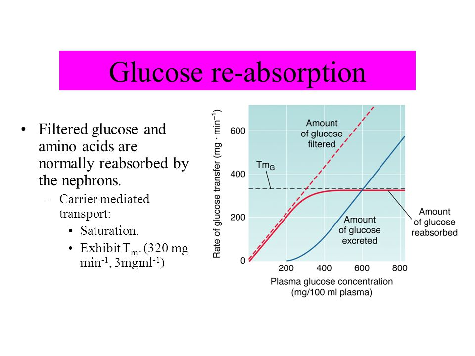 Glucose re-absorption