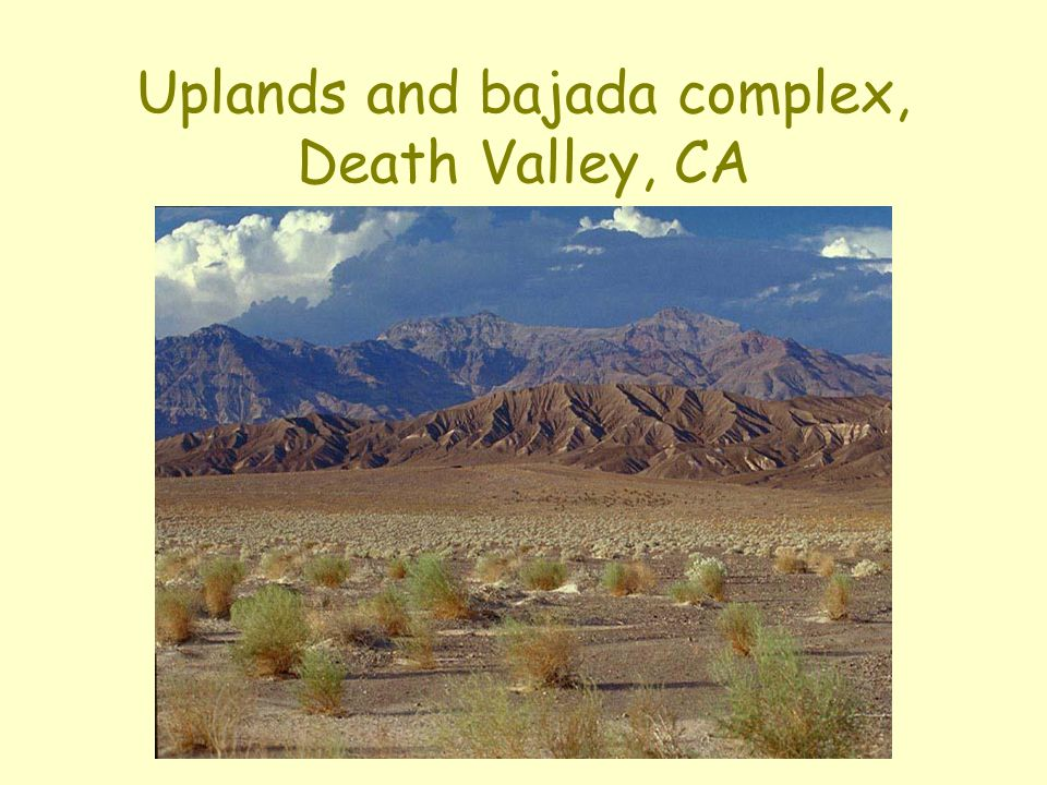Uplands and bajada complex, Death Valley, CA
