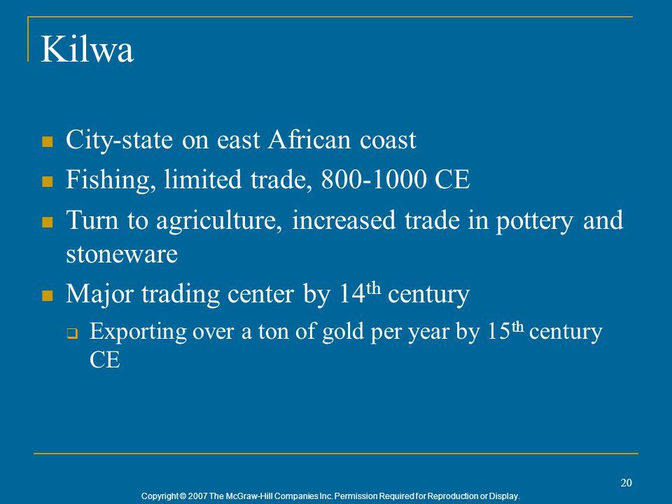 Kilwa City-state on east African coast