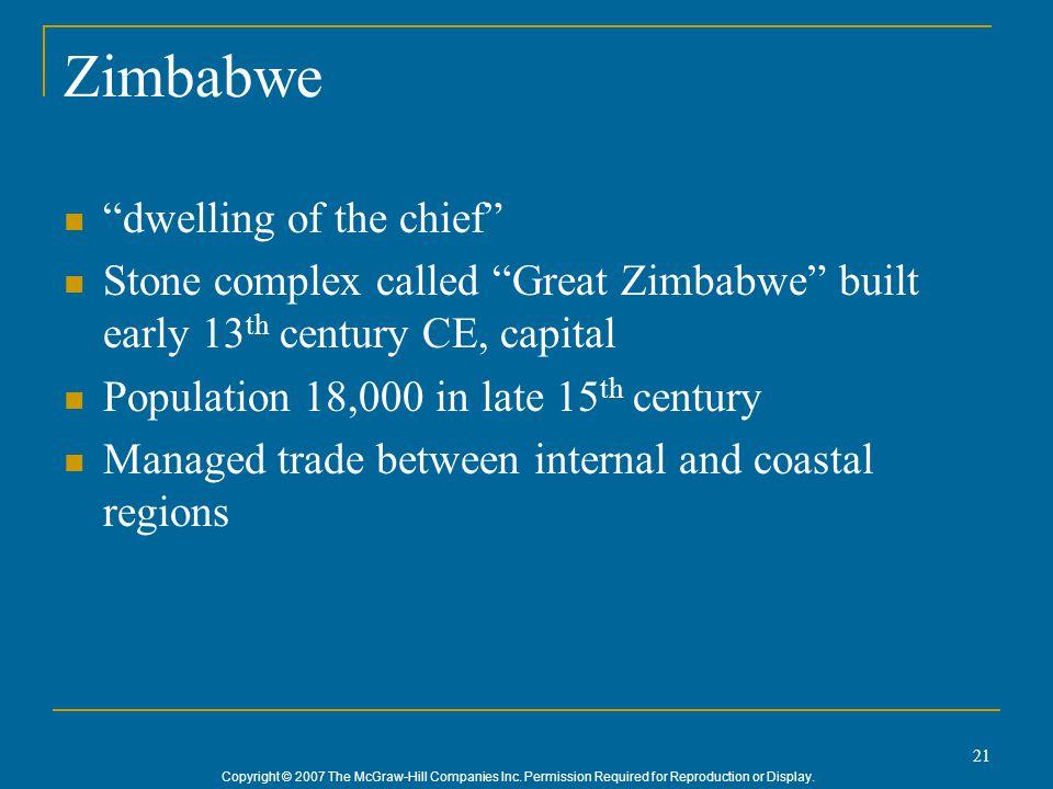 Zimbabwe dwelling of the chief