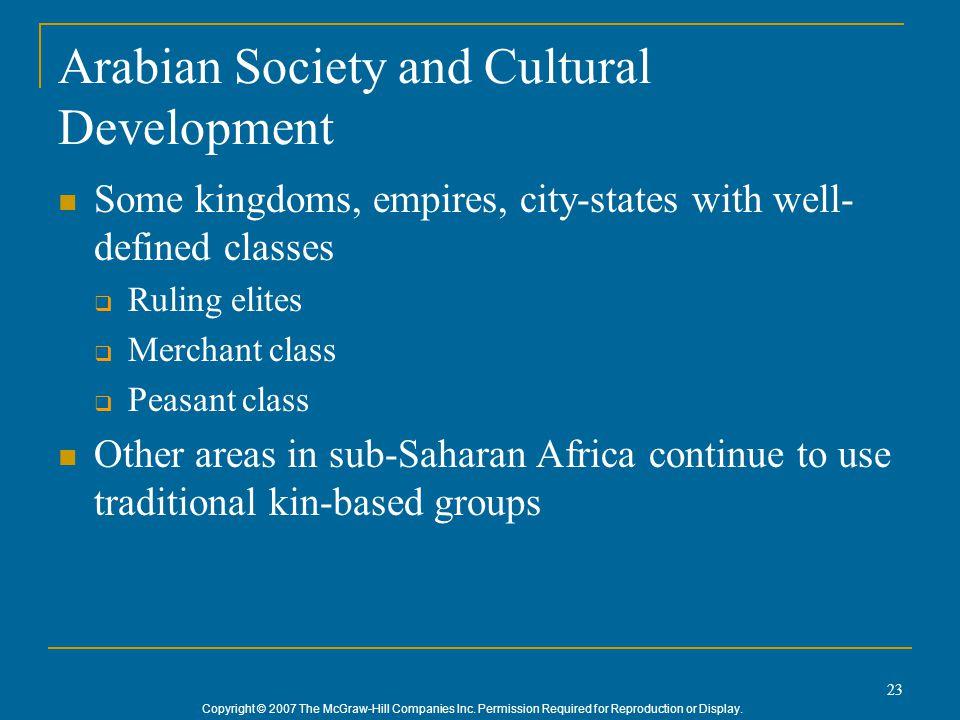 Arabian Society and Cultural Development