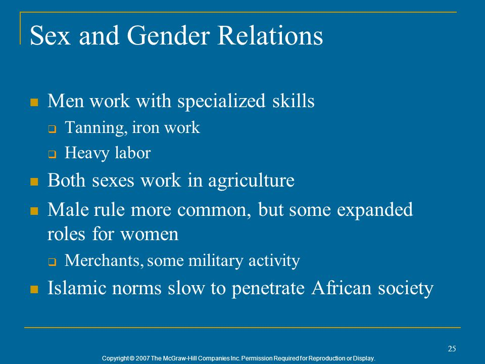 Sex and Gender Relations