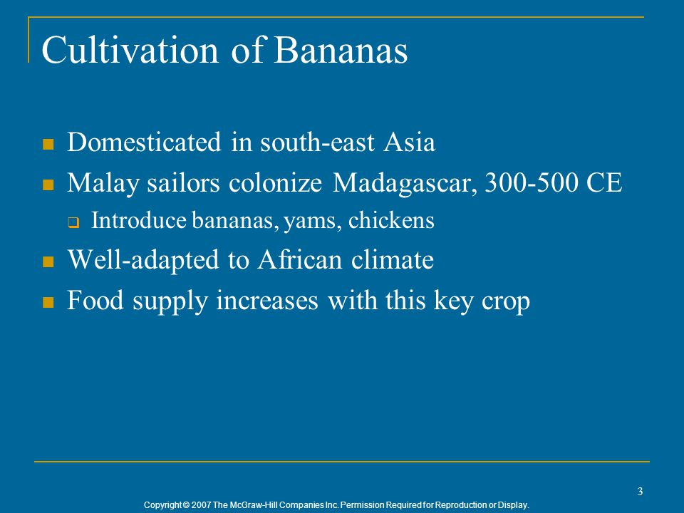 Cultivation of Bananas