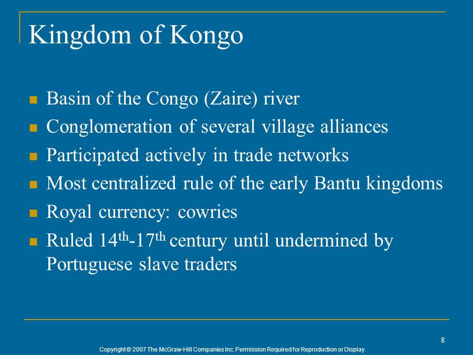 Kingdom of Kongo Basin of the Congo (Zaire) river