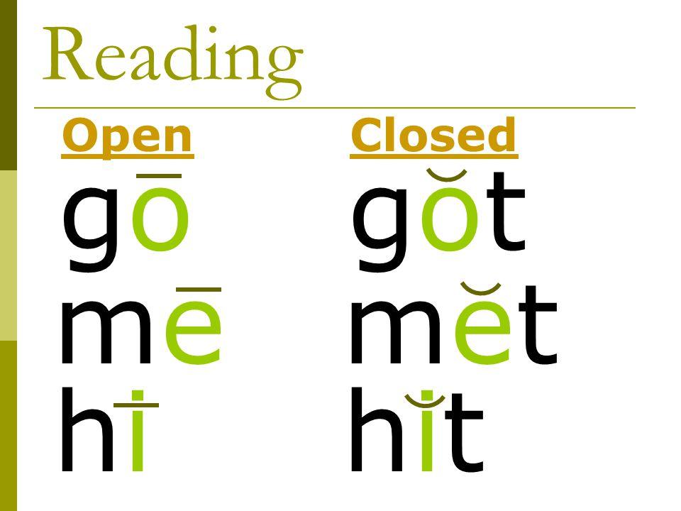 Reading Open Closed go got me met hi hit