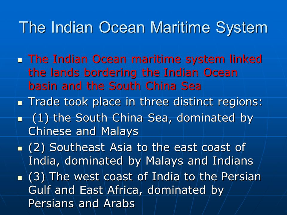 Sea trading system
