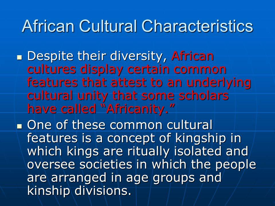 African Cultural Characteristics